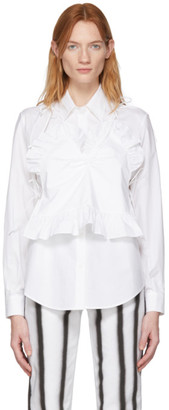 pushBUTTON White Camisole Combi Shirt