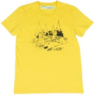 Off-White Off White Yellow Cotton T-shirts