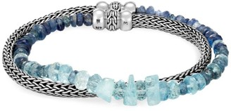 John Hardy Classic Chain Gemstone & Sterling Silver Extra-Small Double Wrap Bracelet