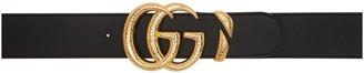 Gucci Black Oversized GG Belt
