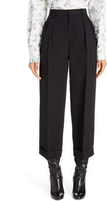 Marc Jacobs Pleated Crop Wool Pants