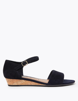 Marks and Spencer Wide Fit Suede Wedge Sandals