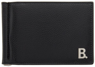 Balenciaga Black B. Bill Clip Square Wallet