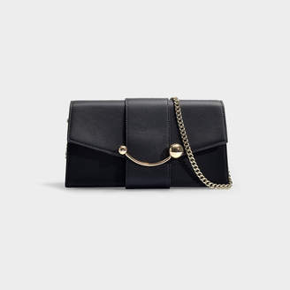 Strathberry Mini Crescent Tri Colour Clutch In Baby Pink And B