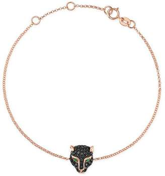 Bloomingdale's Black Diamond & Emerald Panther Bracelet in 14K Rose Gold - 100% Exclusive