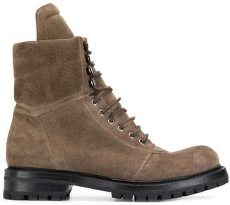 Rick Owens lace-up hiking boots