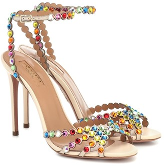Aquazzura Tequila 105 embellished sandals