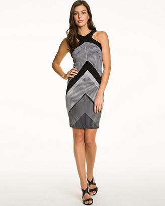 Le Château Chevron Print Knit Halter Dress