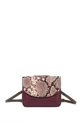 THACKER Crawford Snake Embossed Leather Belt Bag