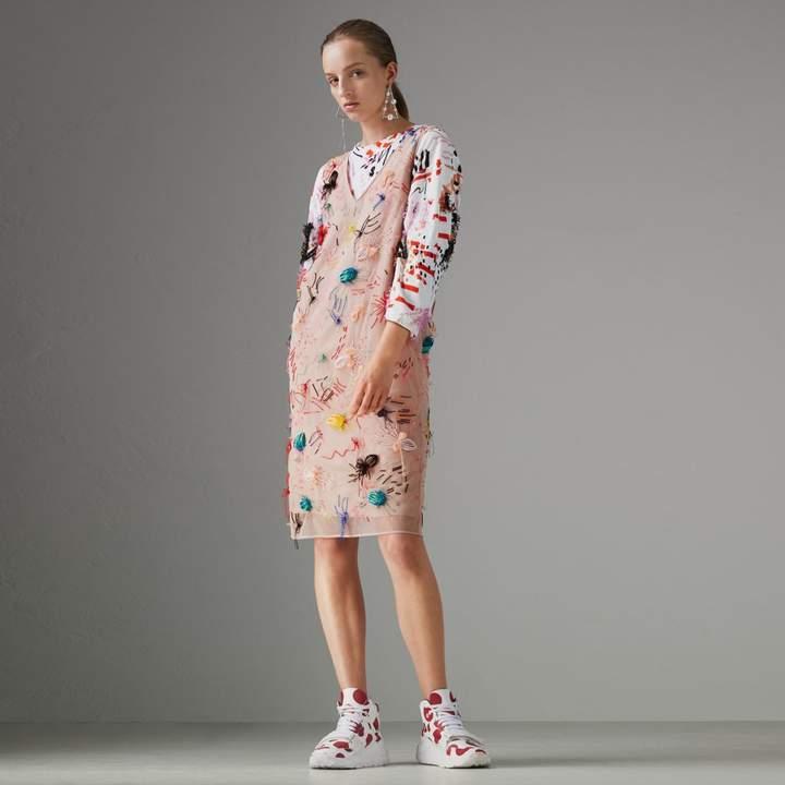 Burberry Embellished Sleeveless Dress , Size: 04