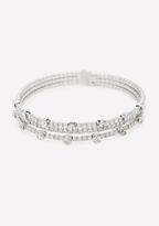 Bebe Crystal Multi-Row Bracelet