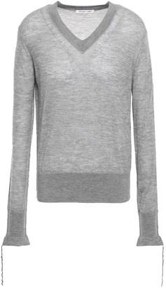 Helmut Lang Frayed-trimmed Cashmere Sweater