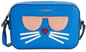 Karl Lagerfeld Paris Cat-Patch Faux-Leather Crossbody Bag