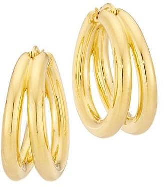 Roberto Coin Designer Gold 18K Yellow Gold Hoop Earrings