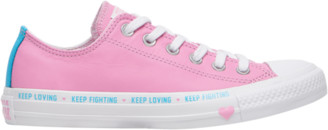 Converse Love the Progress Ox Basketball Shoes - Pink Rise / White Gnarly Blue