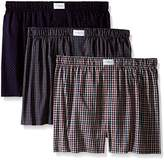 Tommy Hilfiger Men's Woven Boxer, Multi, (Pack of 3)