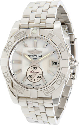 Breitling White Stainless Steel Galactic 36 A3733012/A716 Women's Wristwatch 36MM
