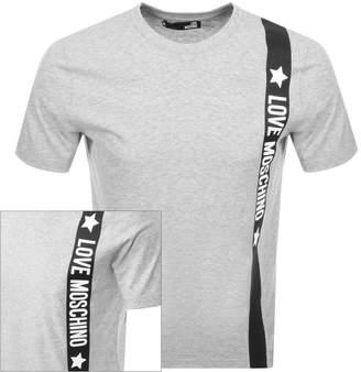 Moschino Love Logo T Shirt Grey