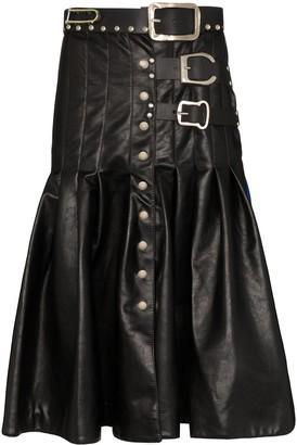 Chopova Lowena Two-Tone Kilt Skirt