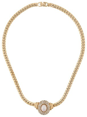 Christian Dior Pre Owned 1980's pearl pendant necklace