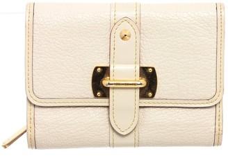 Louis Vuitton White Suhali Leather Le Favori Wallet