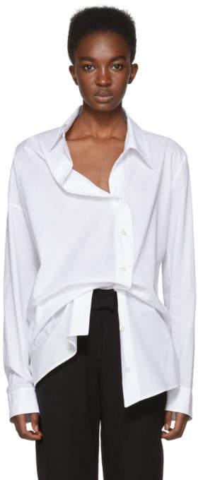 Ann Demeulemeester White Asymmetric Shirt