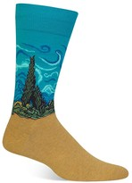 Hot Sox Wheat Field with Cypresses Socks