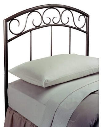 Hillsdale Furniture Wendell Twin Metal Headboard with Frame, Copper Pebble