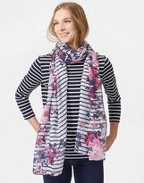 Joules Wensley Scarf in Cream Floral Stripe in One Size