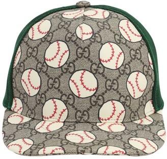 Gucci Baseball Print Gabardine Baseball Hat