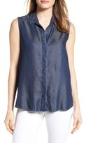 NYDJ Women's Vera Denim Button Back Shirt