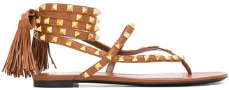 Valentino Rockstud wraparound sandals