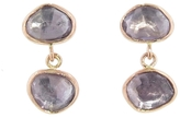 Melissa Joy Manning Amethyst Double Drop Earrings - Rose Gold