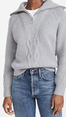 Naadam Cable Zip Pullover