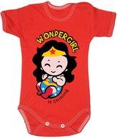 Colour Fashion Baby Wonderwoman Bodysuits Shortsleeve 100% Cotton 0 - 24 months 0004