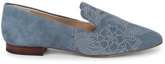 Karl Lagerfeld Paris Nova Studded Suede Loafers