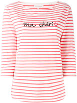 Chinti and Parker slogan striped top