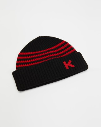 Kenzo Black Beanies - Wool Beanie - Size One Size at The Iconic