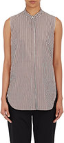 3.1 Phillip Lim Women's Knotted Striped Poplin Top-BROWN