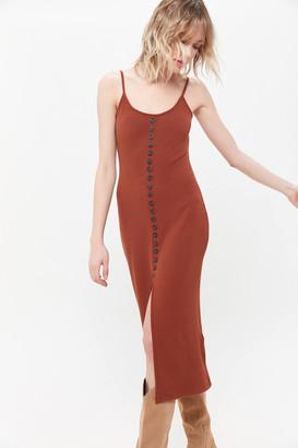 Dress Forum Ribbed Knit Midi Dress