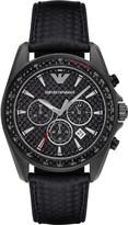 Emporio Armani Black gunmetal watch