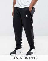 Jordan Nike Plus Flight Fleece Joggers In Black 823071-010