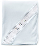 Edgehill Collection Train Embroidered Smocked Receiving Blanket