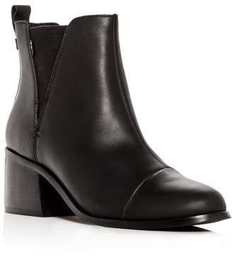 Toms Women's Esme Leather Block-Heel Booties