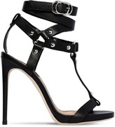 DSQUARED2 120mm Leather Studded T Bar Sandals