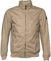 Duck and Cover Mens Chrono Hooded Harrington Jacket Stone