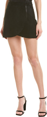 Alice + Olivia Lennon Suede Mini Skirt