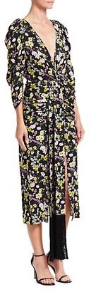 Magda Butrym Downey Floral-Print Silk Midi Dress