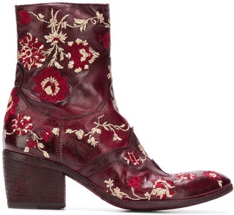 Fauzian Jeunesse' Embroidered Ankle Boots