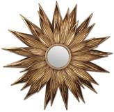Twos Company Sunflower Antiqued Gold Mirror